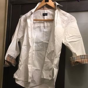 Burberry shirt nova white new sz s